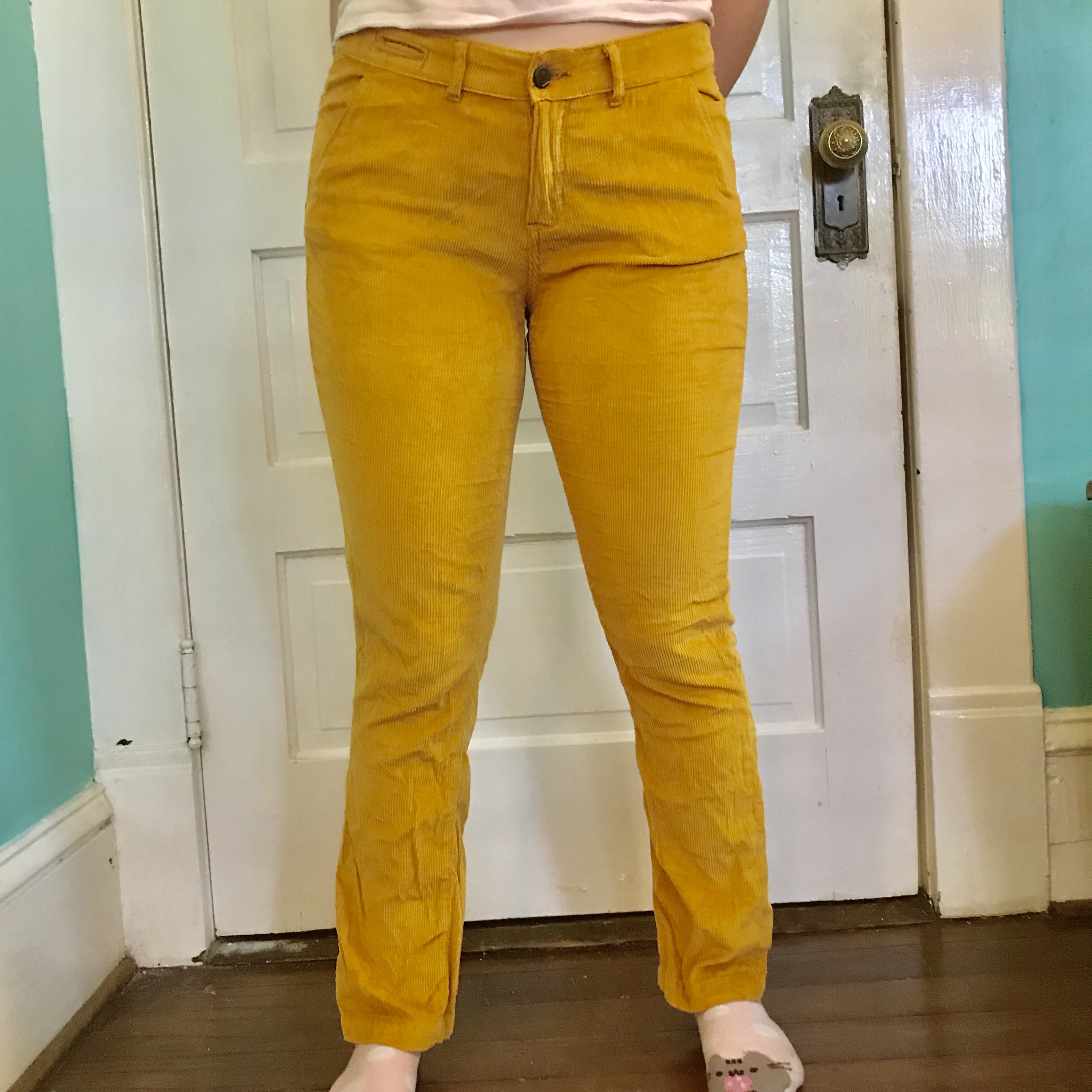 pick up authentic quality cheap prices Cute mustard yellow corduroy pants from... - Depop