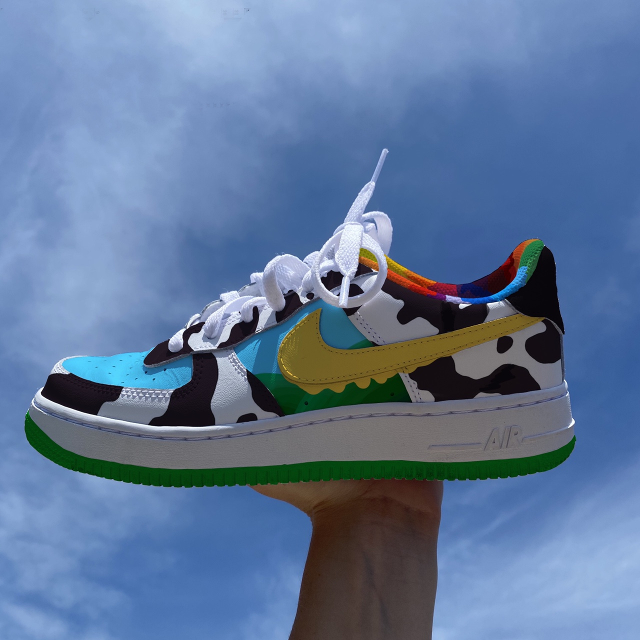 Ben & Jerry x Nike custom style Air Force 1 Don't... - Depop