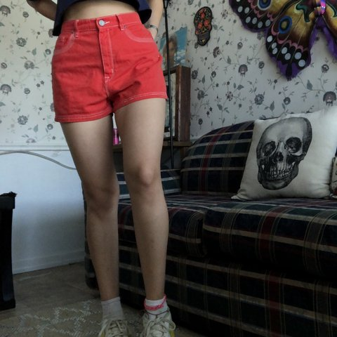 df0d27fbe8 @vicidc. 3 days ago. Baton Rouge, United States. Bright red high waisted  denim shorts.