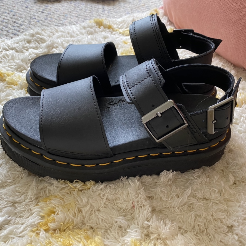 Product Image 1 - Black Doc Marten sandals   These