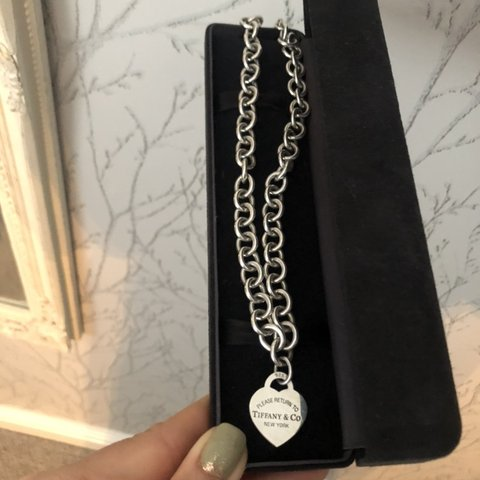 6c99c3a9e Tiffany&Co necklace, barely worn, reason for selling. only! - Depop