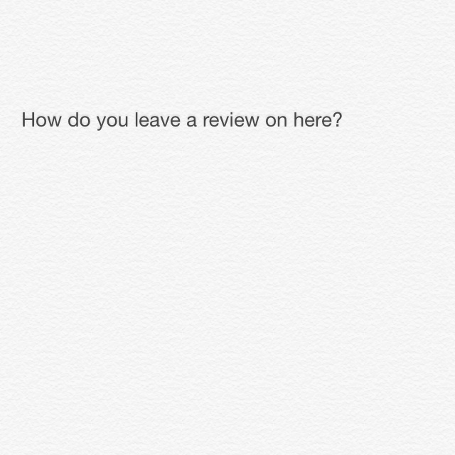 how to leave a review on depop