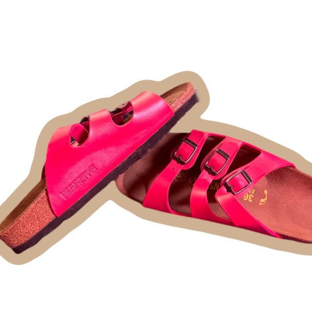 Product Image 1 - Pink Birkenstock's!  Made in Germany