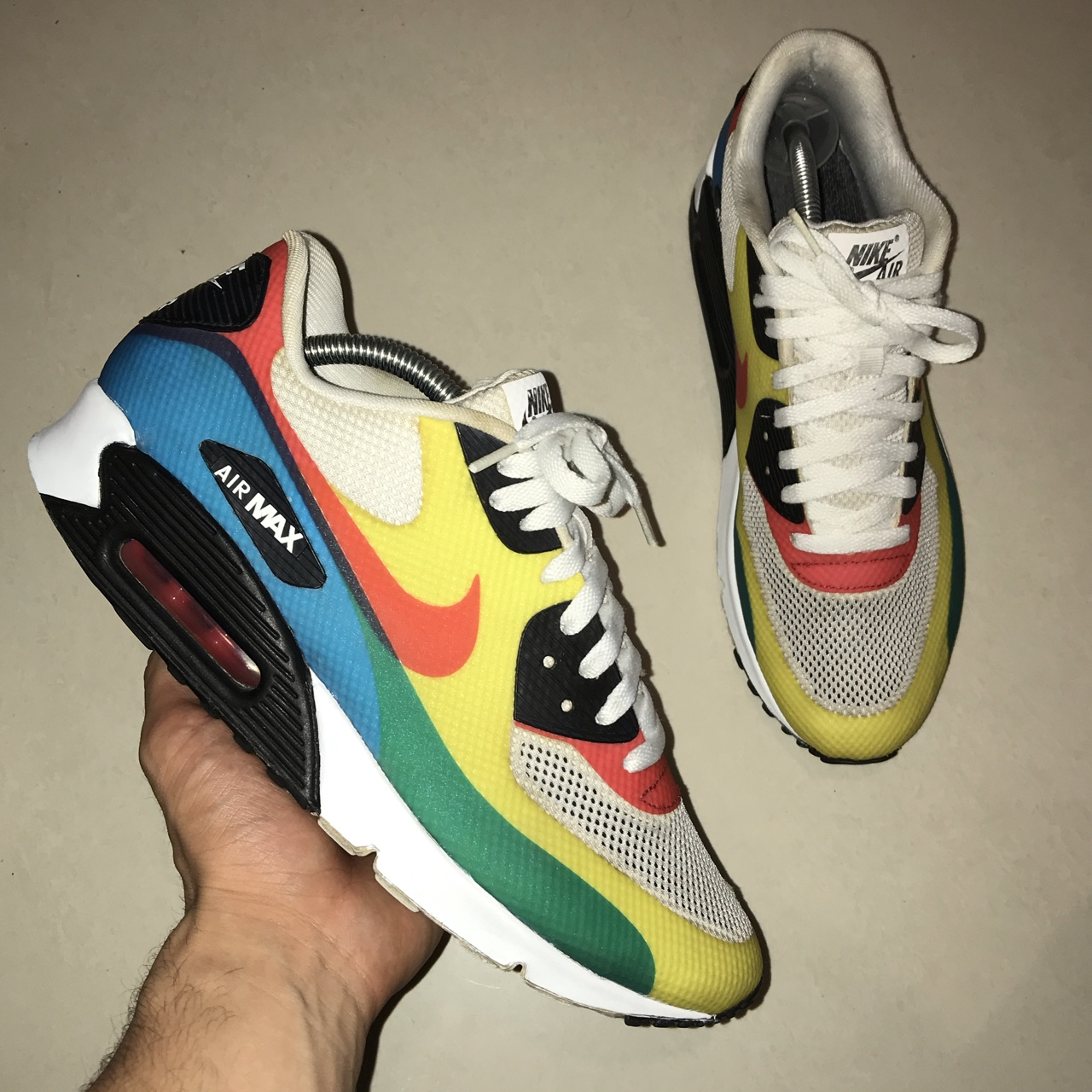 Nike Air Max 90 Hyperfuse Olympic Men's Trainers... - Depop