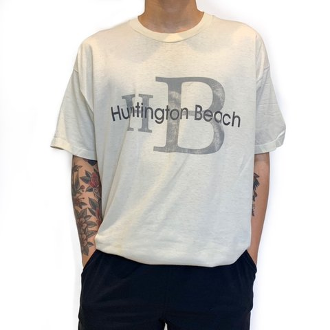 297cc3801f7c @scratch_n_smile. 18 minutes ago. Boston, United States. Vintage USA Made  Single Stitched Calvin Klein Style Huntington Beach T-Shirt ...