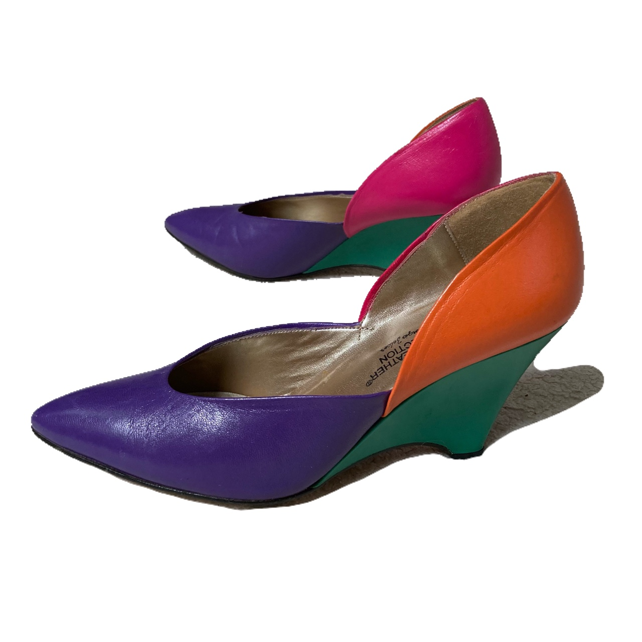 Product Image 1 - 80s 90s VintageColor Block Wedge