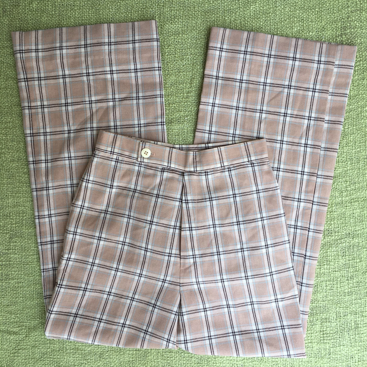 Product Image 1 - Vintage 70s plaid bell bottom
