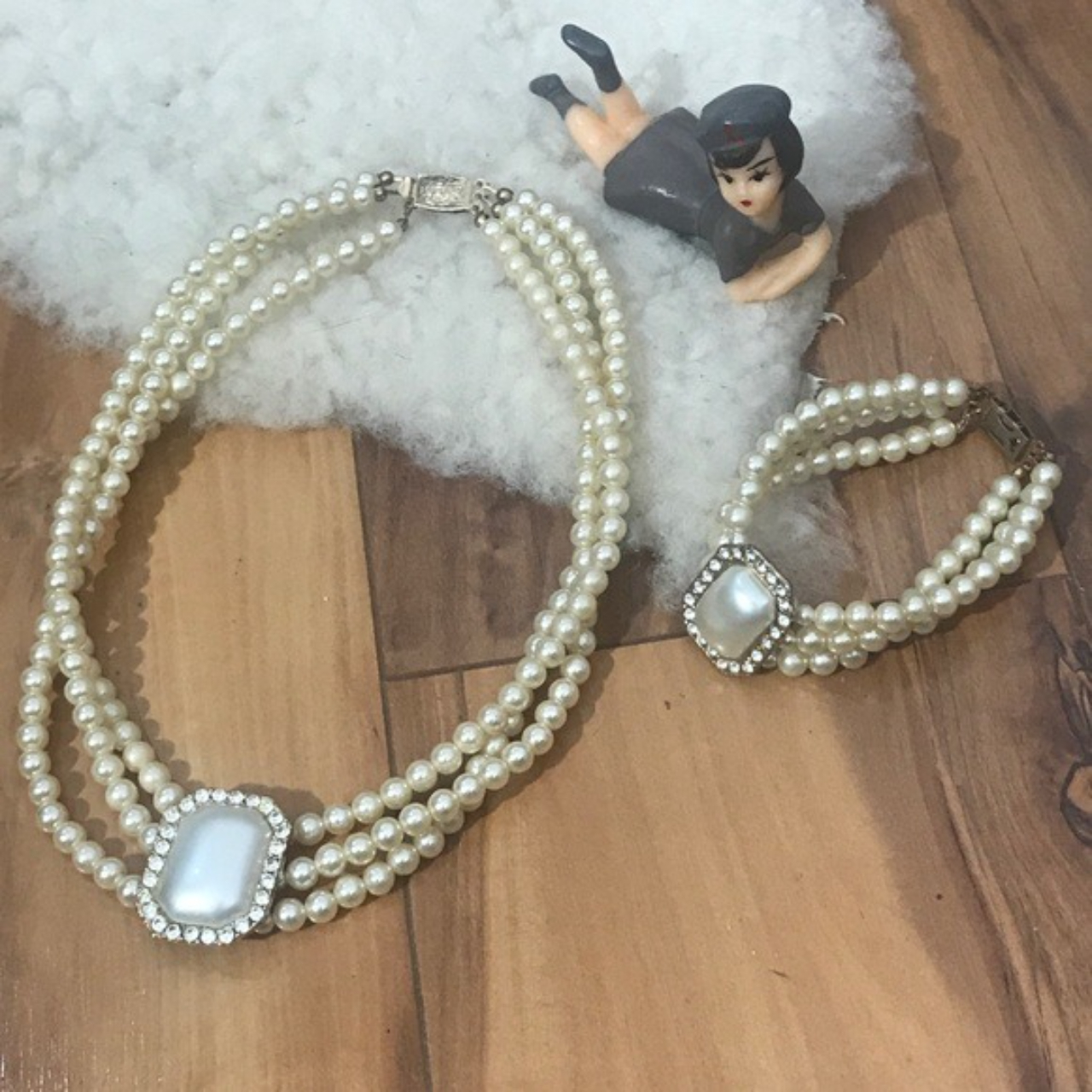 Product Image 1 - 1960s Faux Pearl Necklace &