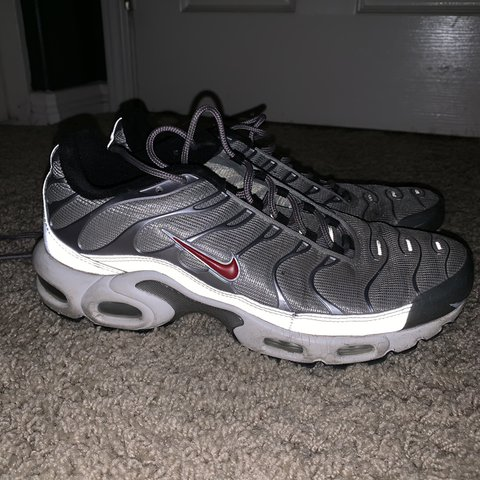 Nike Air Max Plus TN Black Metallic Silver Men's Running Shoes NIKE ST000878