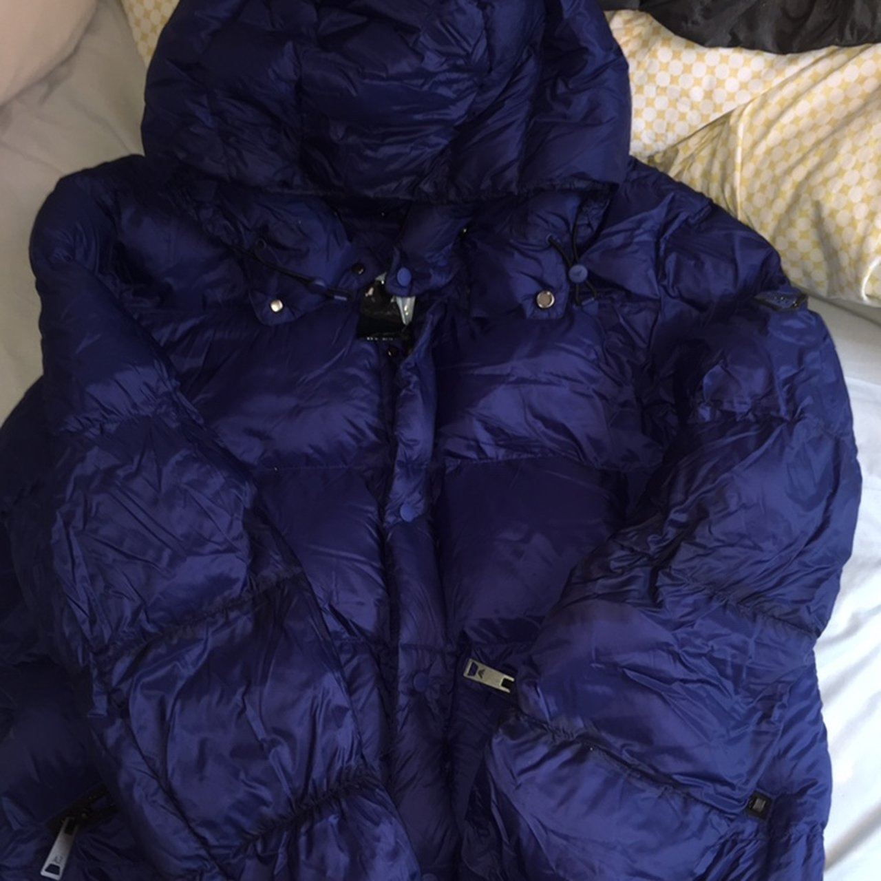 00915383 Armani Jeans Long Padded Jacket With Removable Hood