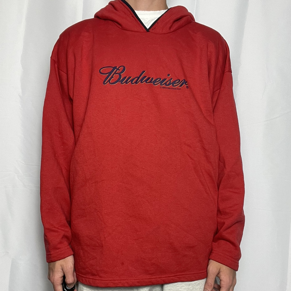 Product Image 1 - 2002 red budweiser hoodie  size