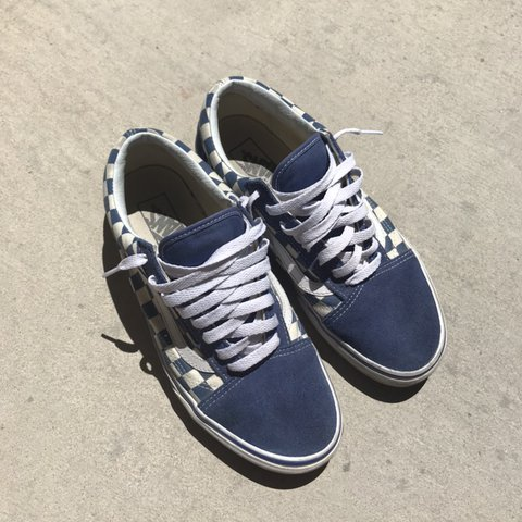 e74034f3933e4 @officialatmm. 9 days ago. Las Vegas, United States. Vans blue checkerboard  old skool