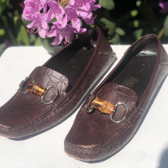Gucci Vintage Ostrich Chocolate Leather- 0