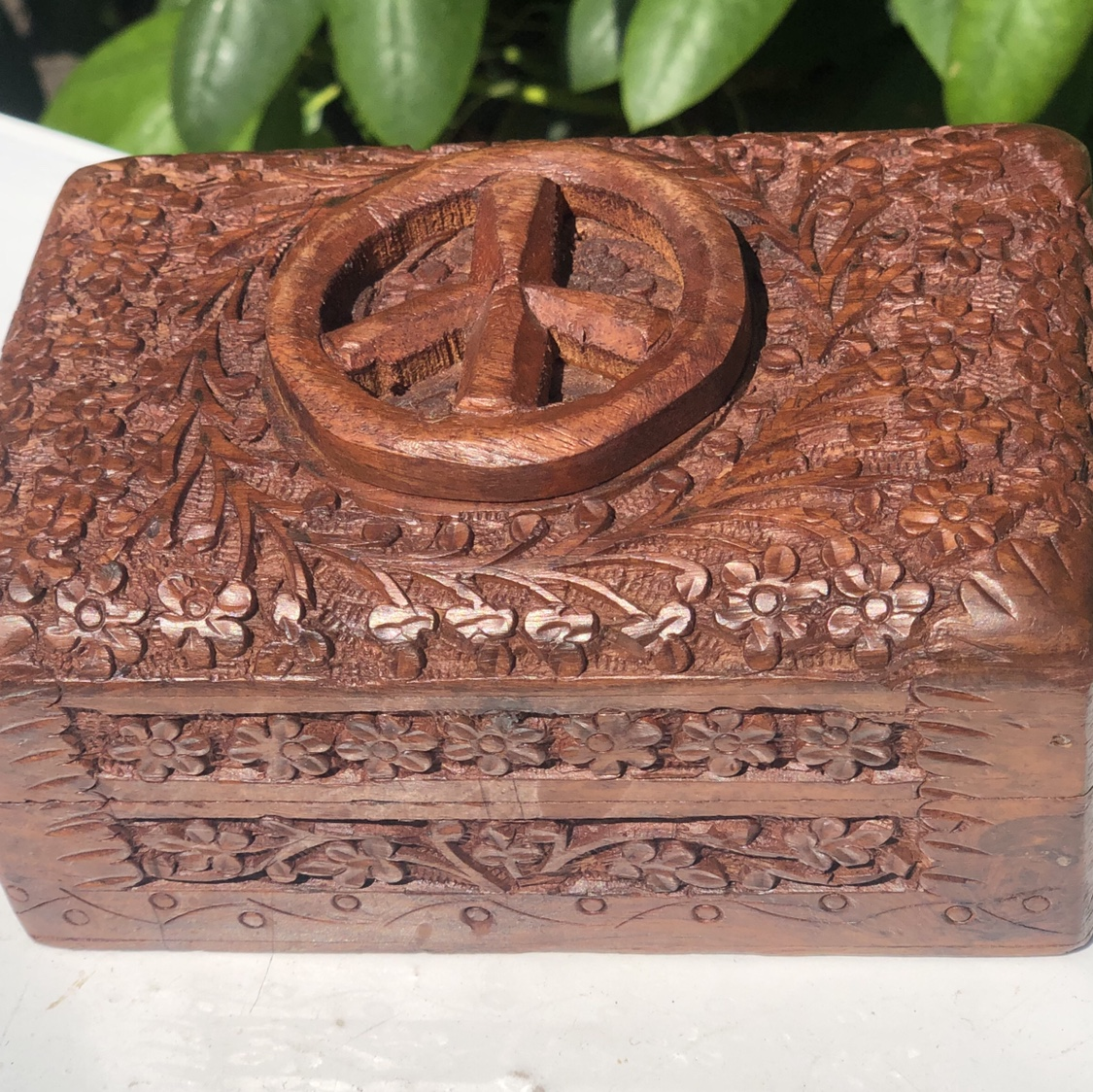 Peace Sign Symbol Wooden Hippy- 0