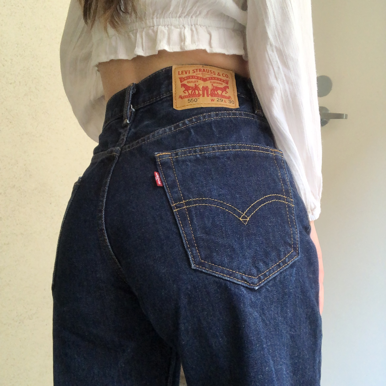 Product Image 1 - Levi's 550 relax fit dark