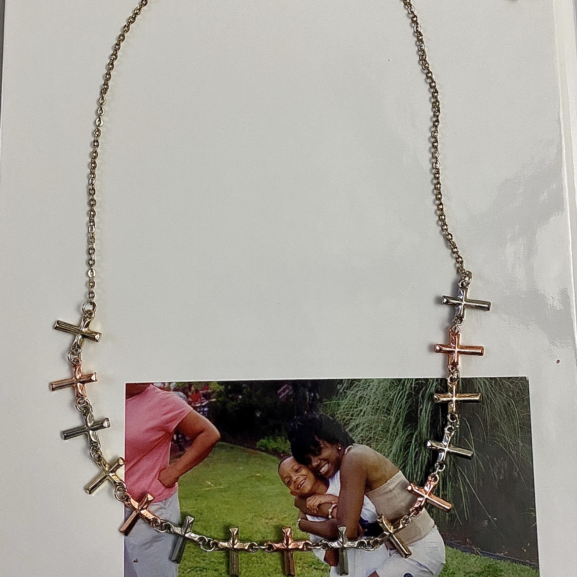 Product Image 1 - multi colored cross necklace ⚓️