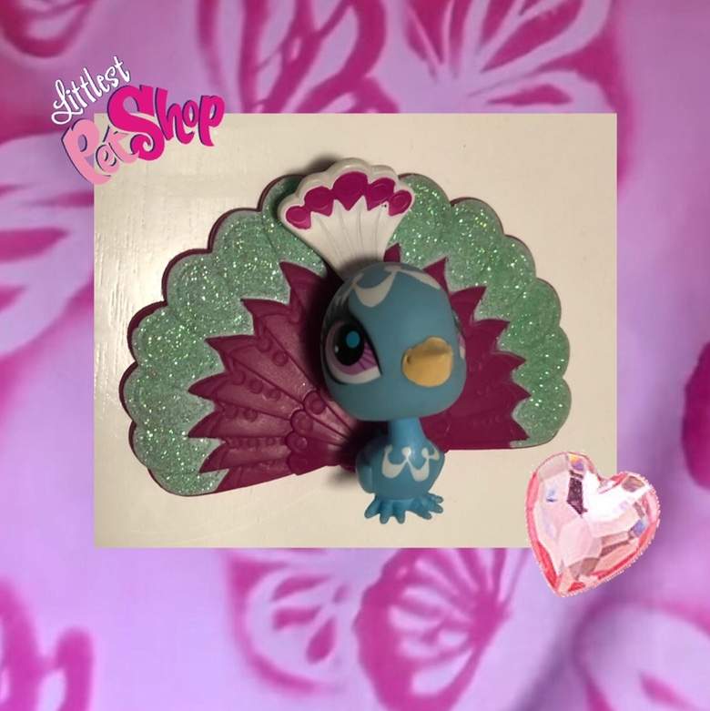Product Image 1 - littlest pet shop sparkly peacock
