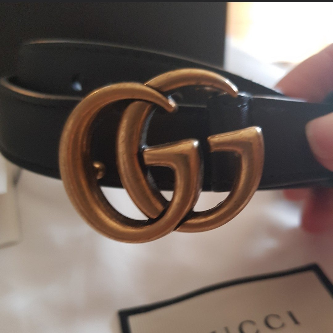 7fd2949cd @sarahtribel. 4 days ago. Brighton, Victoria, AU. Gucci marmont belt leather  with double G buckle black ...