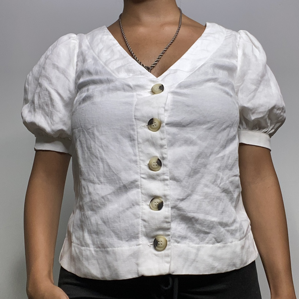 Product Image 1 - milkmaid white puff sleeve button