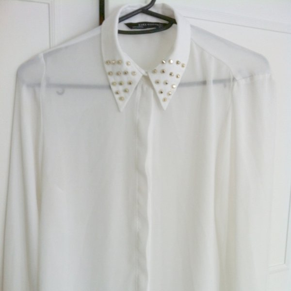 Zara White Studded Blouse 101