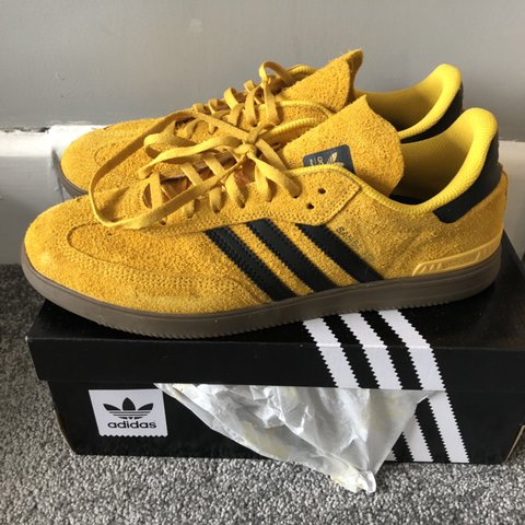 d626a5445 ADIDAS SAMBA ADV. yellow/black suede with gum soles. Size UK - Depop