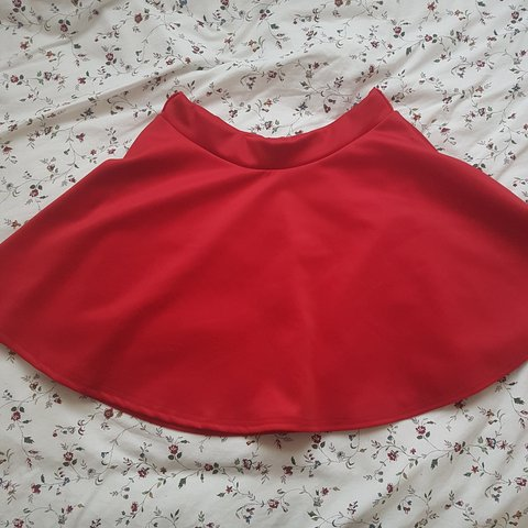 98a1fbbed Red mini skirt, bought second hand. In v good condition no - Depop