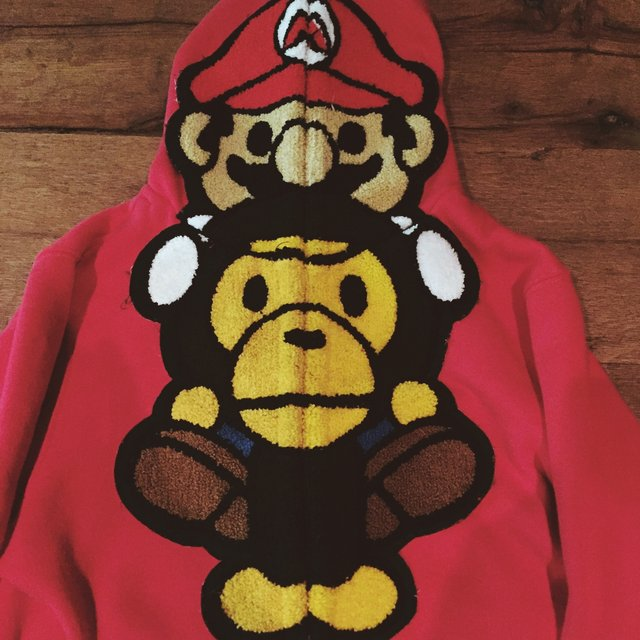 Super Mario, Baby Milo Hoodie // KIDS L, Prolly Fit Girls Small