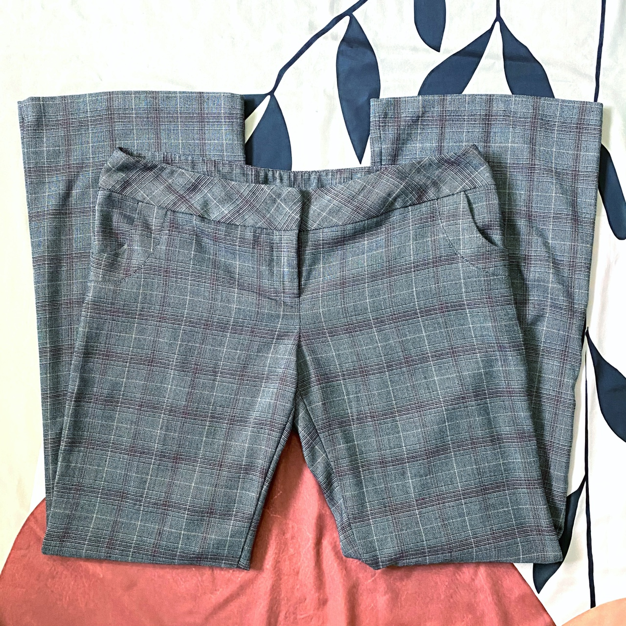 Product Image 1 - Y2k Gray Plaid Flare Pants🦋  Tagged