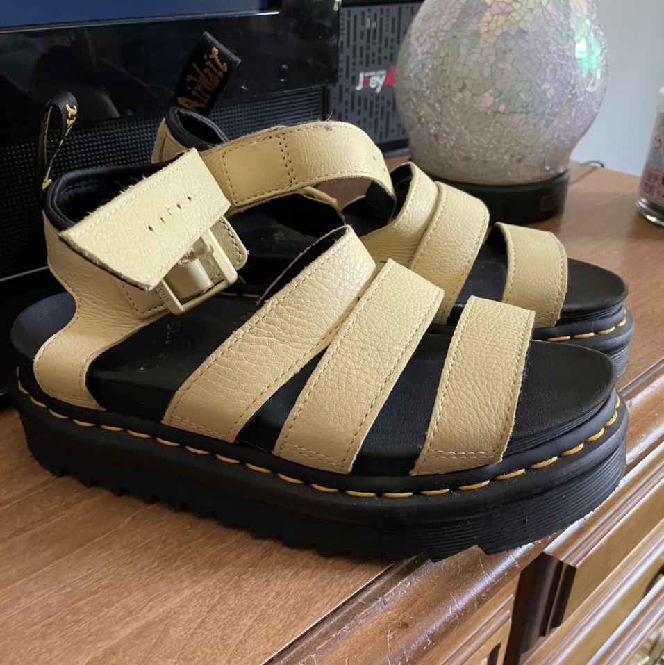 Product Image 1 - ON HOLD! Yellow Doc Marten Sandals!