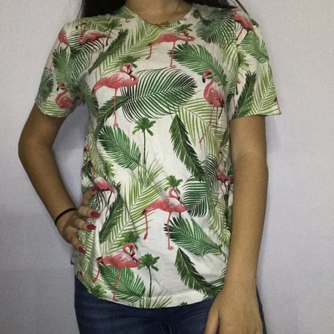 f951f780 @gabyrusnak. in 8 hours. Plantation, United States. zara tropical flamingo  t shirt!
