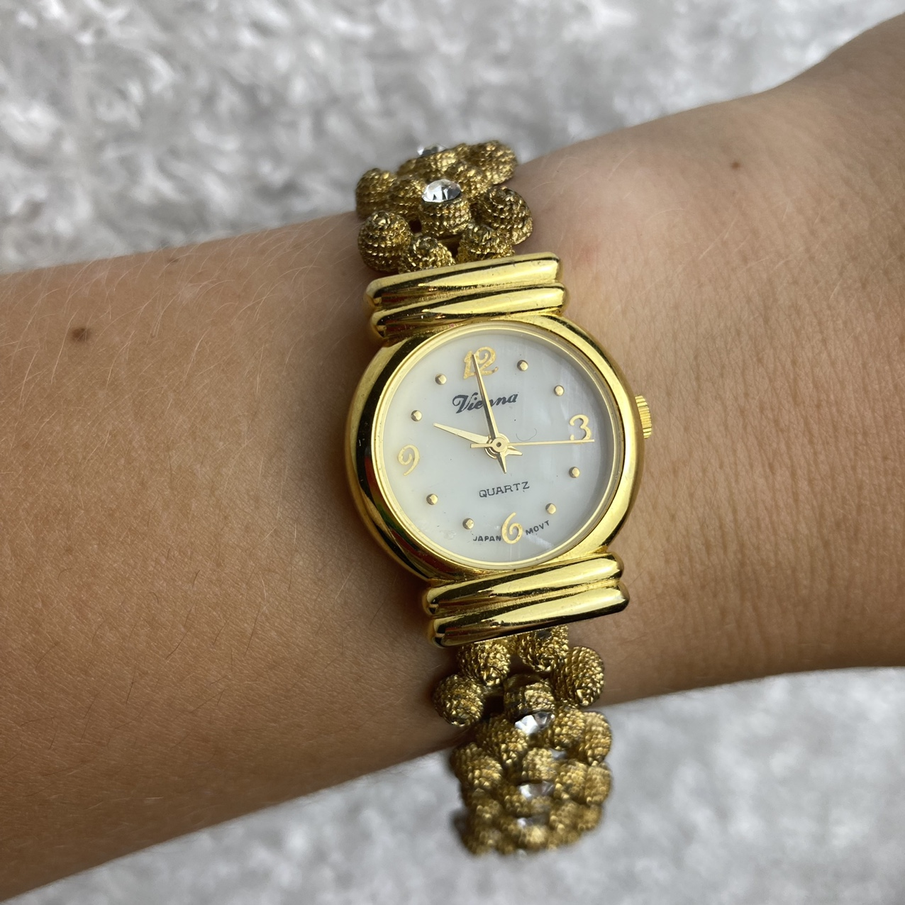 Product Image 1 - Vintage gold colored watch. Battery needs
