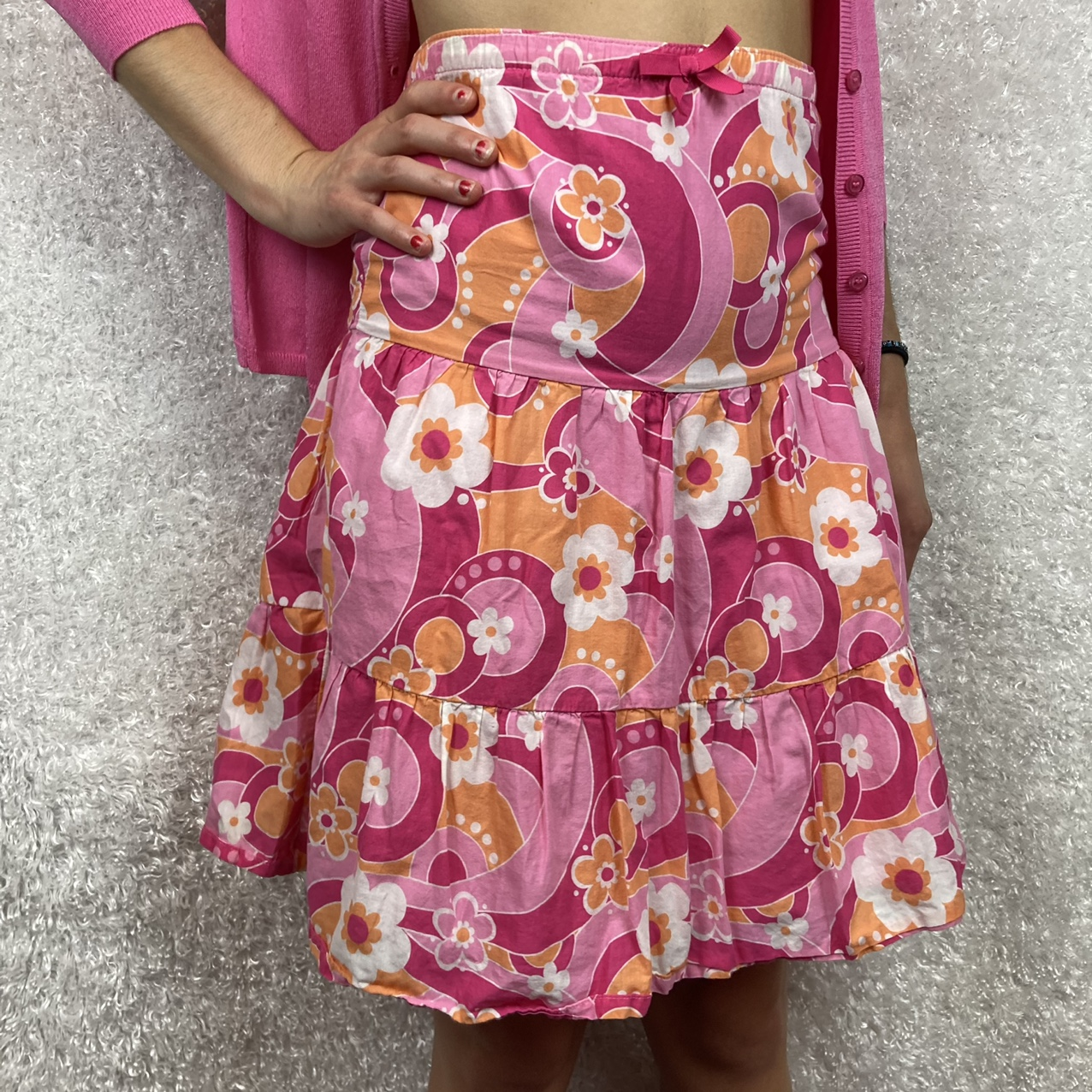 Product Image 1 - Bright pink and orange floral