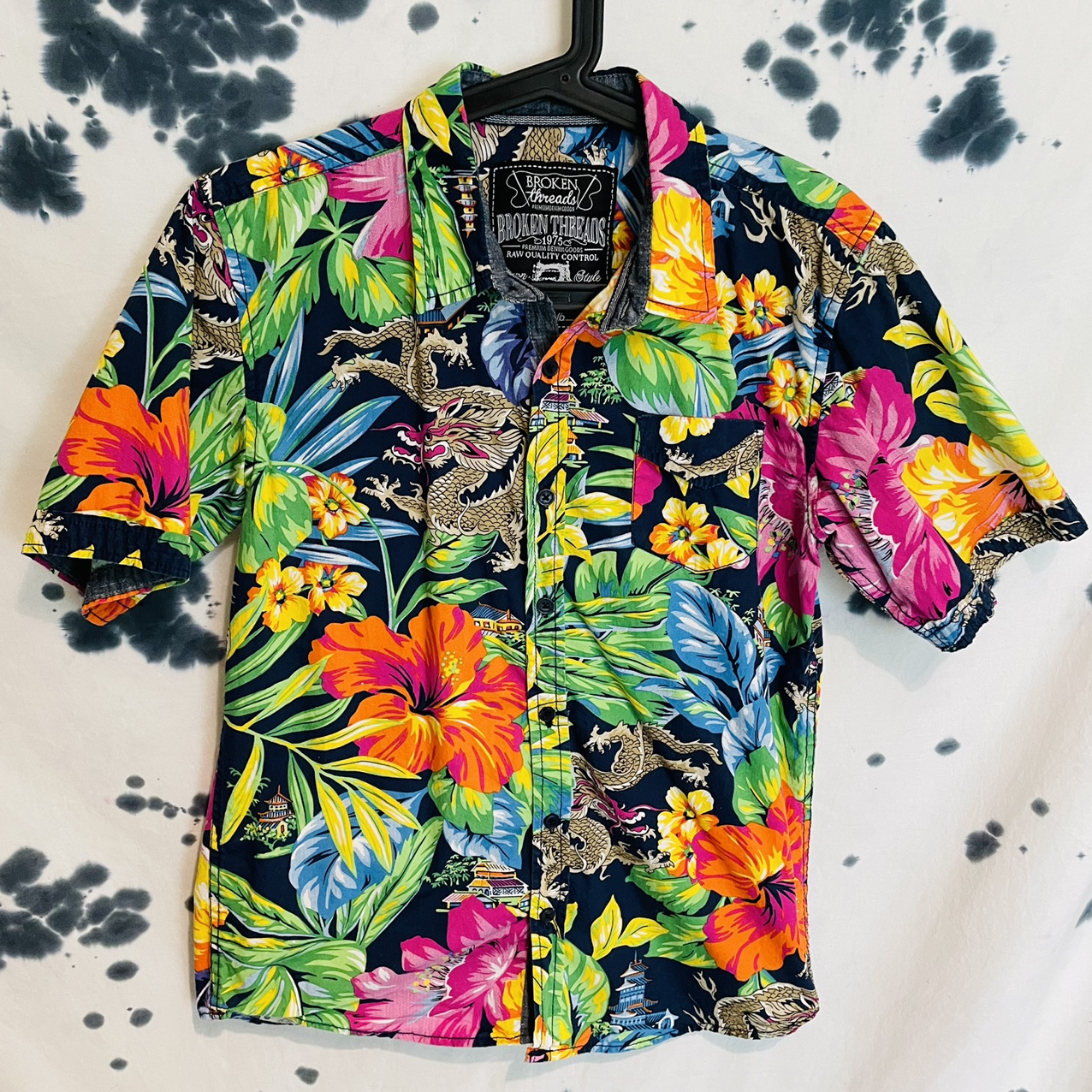 Product Image 1 - Broken Threads Floral/Dragon Button Up  This