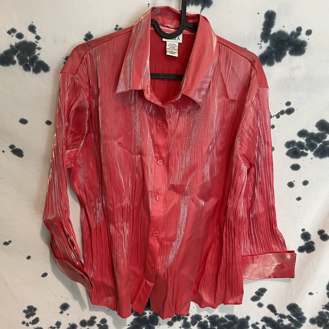 Product Image 1 - Vintage Nicola Pink/Silver Sheen Blouse  This