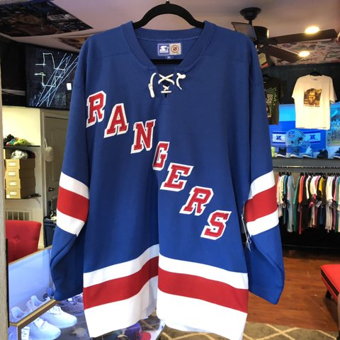 8812e673 @vintageaffiliated. 12 days ago. Alvin, United States. Vintage vtg New York  Rangers Jersey Size-M Great condition