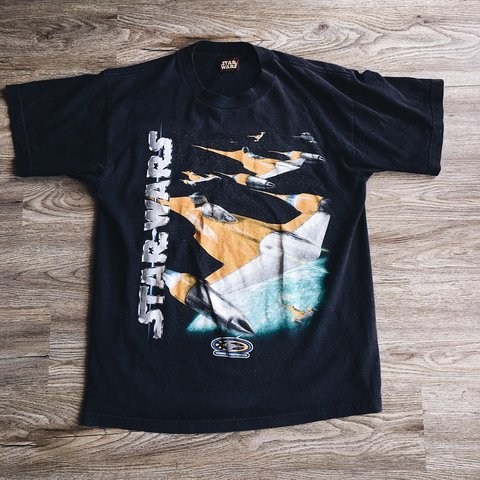 fa058f8a @grimegoods. 27 days ago. Farmington, United States. Vintage Star Wars t- shirt ...