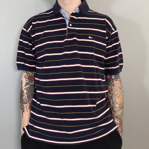 32455ae19d63 @jaxvx. 5 hours ago. Auburn, United States. • men's TOMMY HILFIGER striped  polo shirt 💈