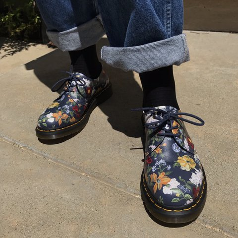 1bab983be979 free shipping ONLY TODAY darcy floral 1461 doc martens ! on - Depop