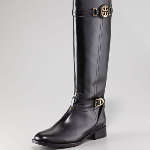 c7e5f858e341 @cchanel54. 11 days ago. Arcadia, United States. TORY BURCH Tory Burch -  Calista Logo Leather Riding Boot Black ...