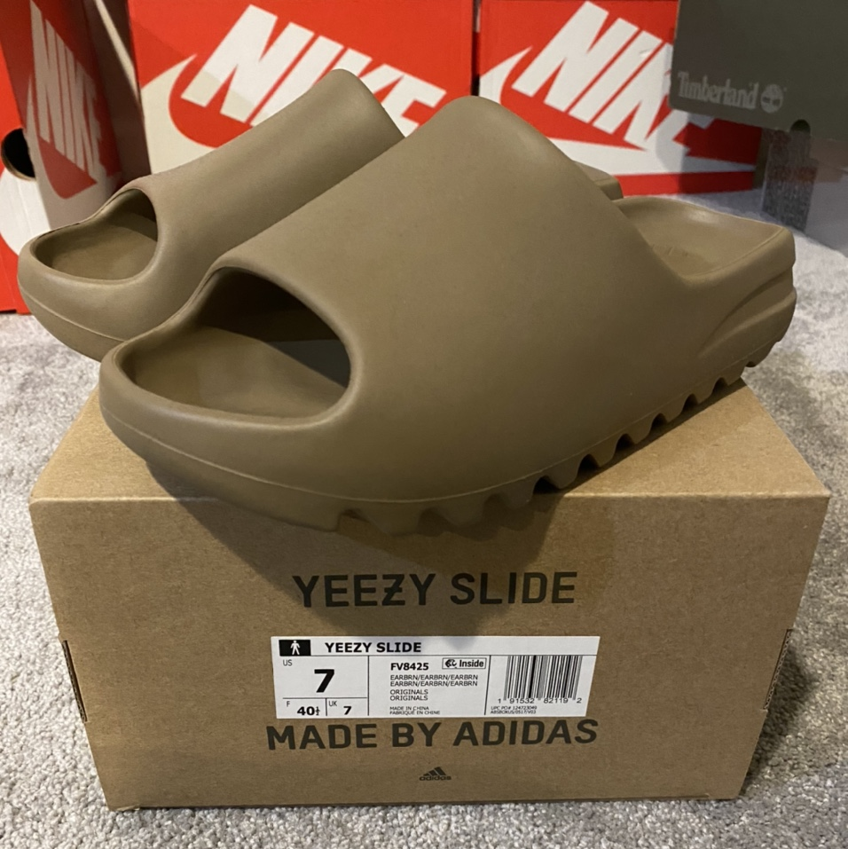 """Product Image 1 - Adidas Yeezy """"Earth Brown"""" Slides  AUTHENTIC/BRAND"""