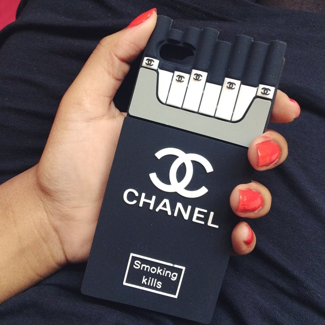 Chanel Iphone 6 Case Smoking Kills Chanel 'smoking Kills' Iphone