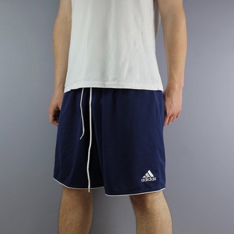 5c334e188 @cloutcloset. in 8 hours. Horsham, United Kingdom. Vintage Adidas Shorts in  Navy with Logo and Drawstrings. Size XL