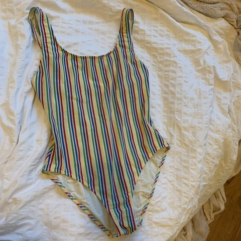 0db154fa101 @ndemarco904. 25 days ago. New York, United States. Solid & striped one  piece bathing suit ...