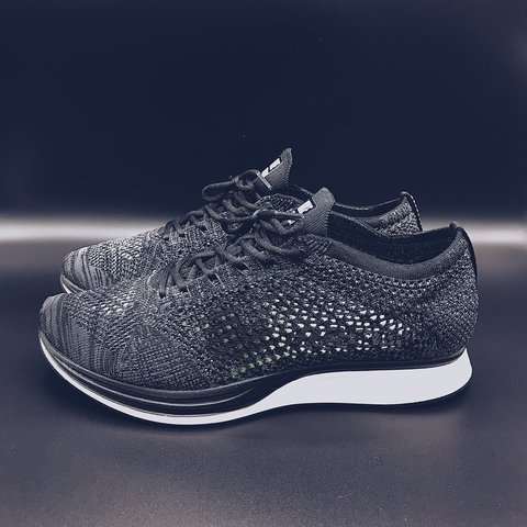 """huge discount 69cce 625dd Nike Flyknit Racer """"Blackout"""" Used Size 8.5M- 0"""