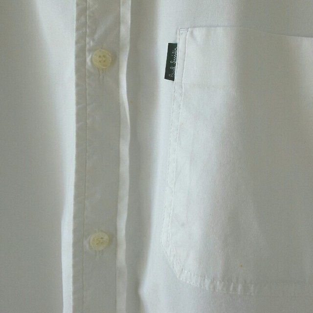 Crisp white paul smith cotton shirt chris evans depop for Crisp white cotton shirt