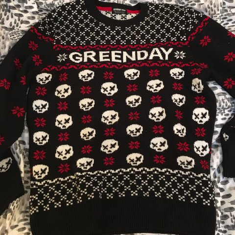 Green Day Christmas Sweater.Listed On Depop By Punxbarbie