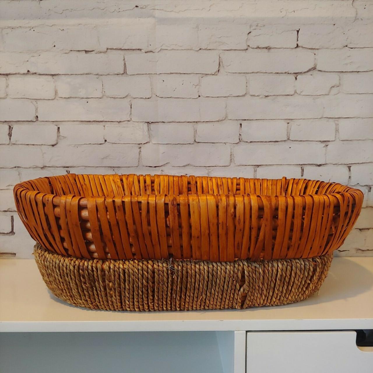 Product Image 1 - Vintage 2 Tone Straw Woven