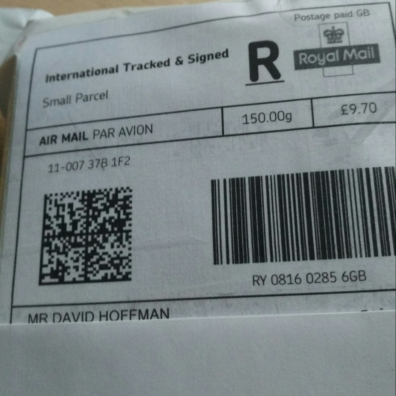 International tracked and signed royal mail pre paid...   Depop