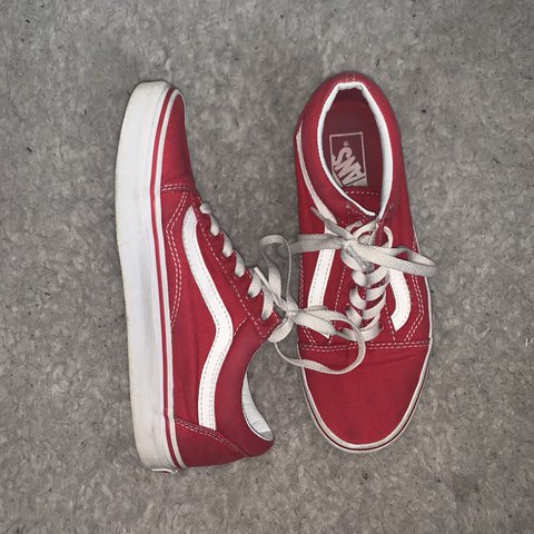 8716973a096b Red Old Skoolz, moderately worn, too small for me now ): add - Depop