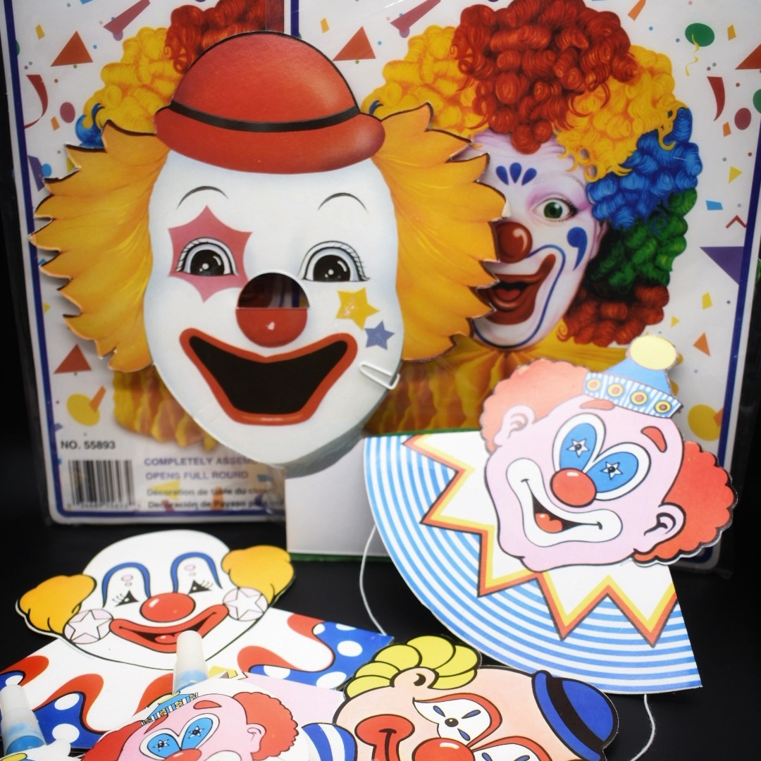 Product Image 1 - 1980s clown party variety pack.  Measurements: One